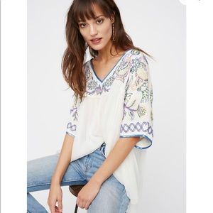 NWT Free People Sunset Lover's Beaded blouse